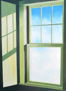 Sky High by Peter Blais, acrylic on canvas 32 x 42 framed at the Maritime Painted Saltbox Fine Art Gallery in Petite Riviere Nova Scotia