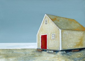 Store with Red Door by Peter Blais