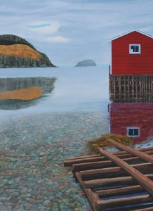 Promise of Sun Today by Tom Alway, painting at the Maritime Painted |Saltbox Fine Art Gallery