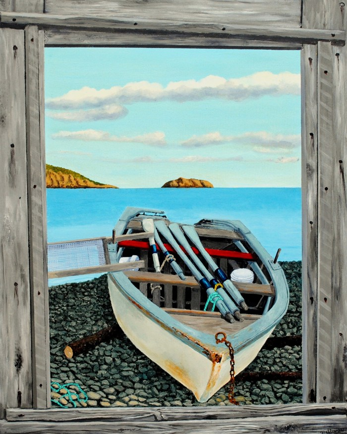 Sea Debris, An Empty Fish Flake by Tom Alway 16 x 20 Metal Print