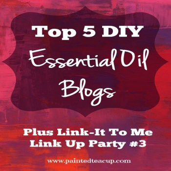 Top 5 Best DIY Essential Oil Blog Post + Join the Link-it To Me Link Up Party #3 www.paintedteacup.com