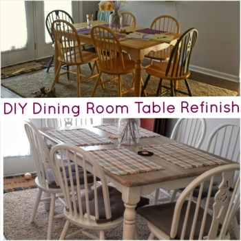 DIY Dining Room Table Refinish- The Pomeroy Life