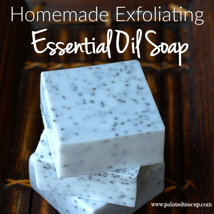 Homemade Exfoliating Essential Oil Soap