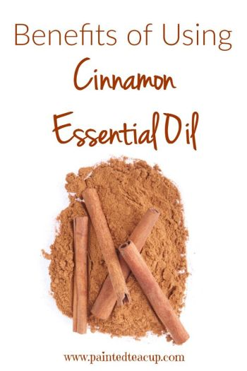 Tips and benefits of using cinnamon essential oil. Learn 4 ways to use it plus cinnamon diy projects. Click the image to learn more!