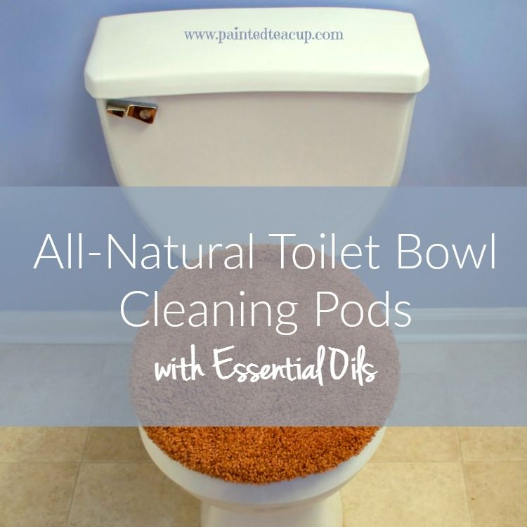 This easy to make recipe for all-natural toilet bowl cleaning pods gives you a safe, effective & natural way to clean your toilets!