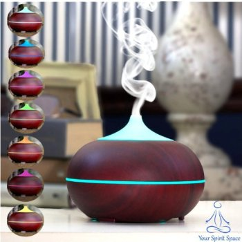 300ml woodgrain essential oil diffuser. Click image to see more essential oil gift ideas!