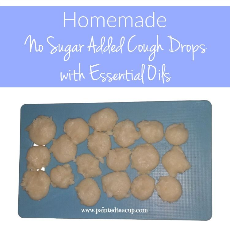Homemade No Sugar Added Cough Drops with Essential Oils