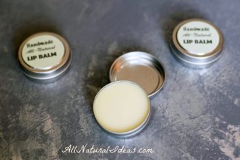 Handmade Essential Oil Lip Balm. This is a great essential oil skin moisturizer!