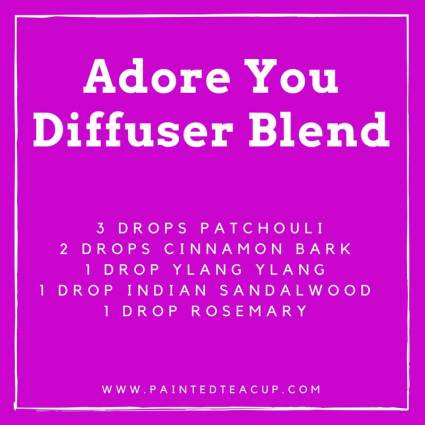 5 great ylang ylang diffuser blends to help capture, support and instill hopeful feelings of joy and happiness so you can experience love all year long! #diffuserblend #ylangylang #essentialoils #romanticdiffuserblend #valentiniesday