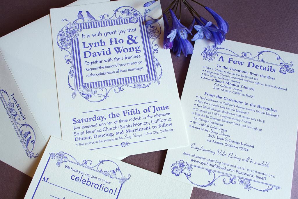 Urban Chic Contemporary Wedding Invitation