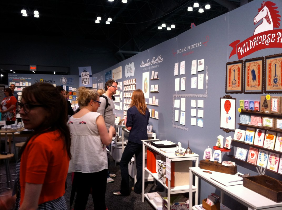 Ladies of Letterpress booth at National Stationery Show