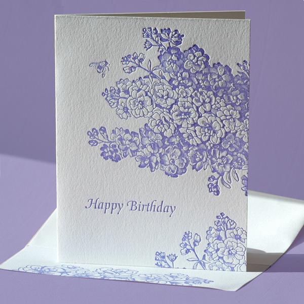 Lila Birthday Card