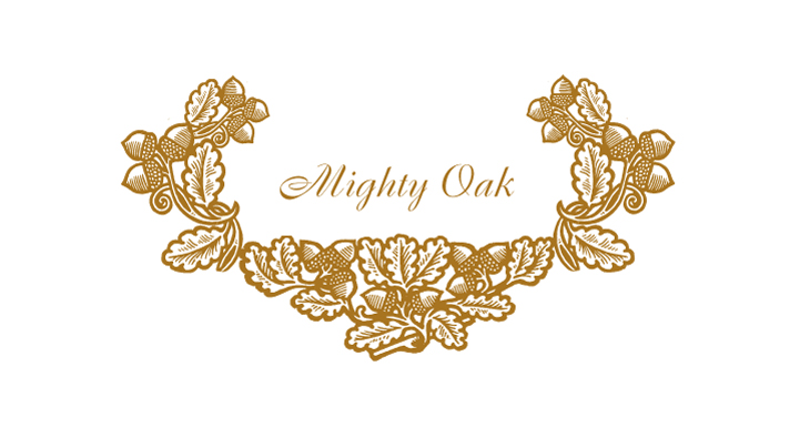 Mighty Oak - Arts & Crafts style oak leaves and acorns