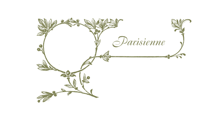 Parisienne - a retro olive leaf letterpress cut made to integrate with text