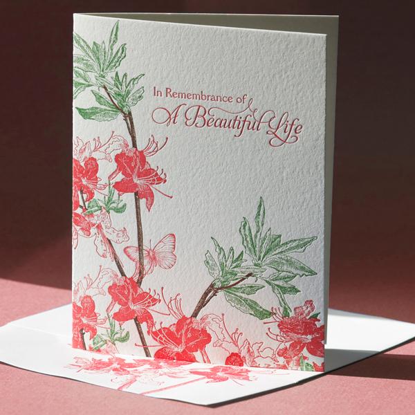 Azalea Sympathy Card