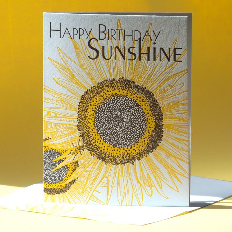 Sunflower Happy Birthday Sunshine
