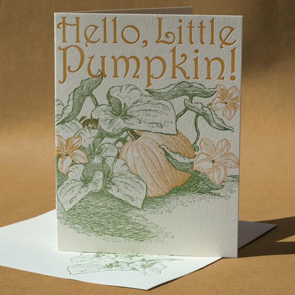 Pumpkin Baby Card