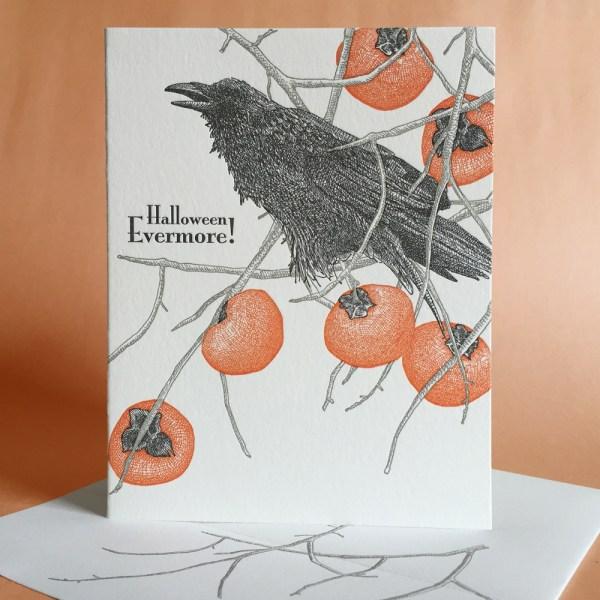 Persimmon Halloween Card