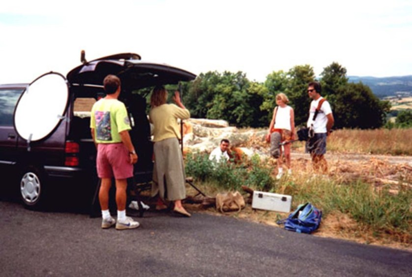 sue cook, Mary oakrhind and television crew