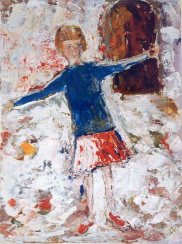 Eliza Conyngham girl at Puycelci with chestnut