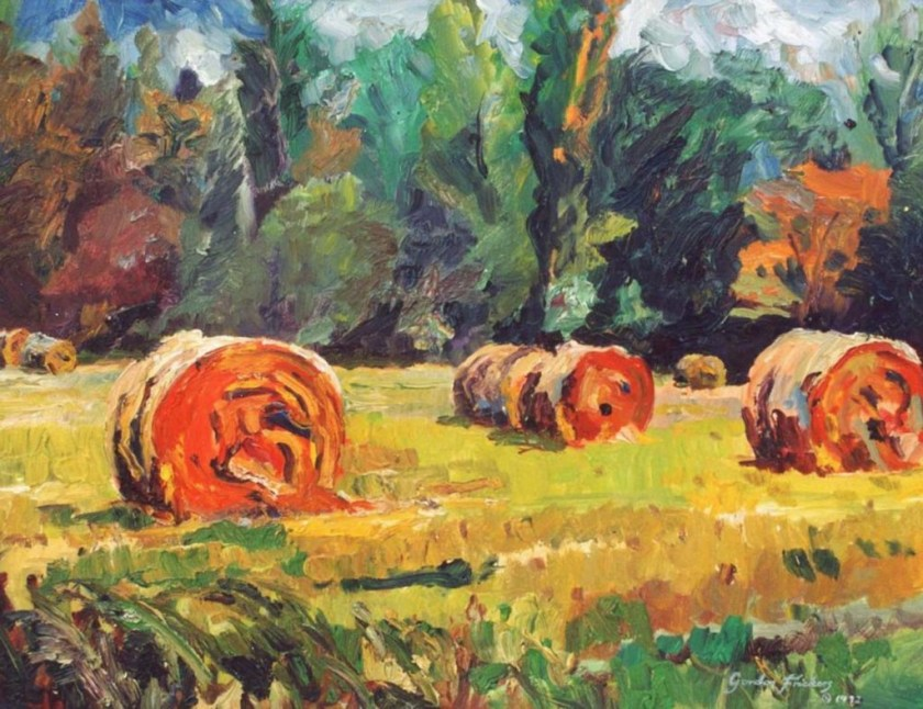 Gordon Frickers-hay bales in oil