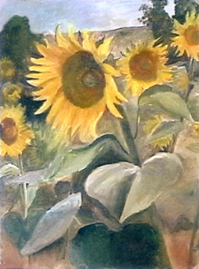 Hugh Moore sunflowers in oil