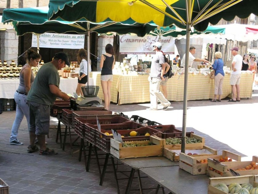 Tuesday market Cyril at work