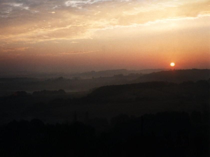 sunrise from studio window