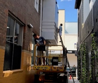Commercial and Industrial Services: Elevated Platform Painting. Central Coast, New South Wales.