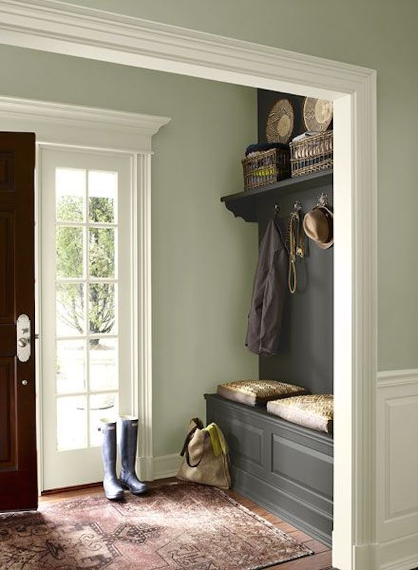 A colour revamp produces an inviting hallway.
