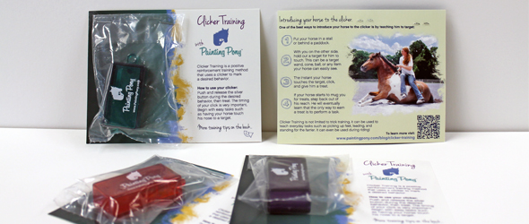 clicker training set for horses from painting pony