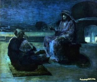 Christ And Nicodemus On A Rooftop Artwork By Henry Ossawa Tanner ...