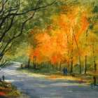 Mt Wilson Autumn colors watercolor painting by Joe Cartwright