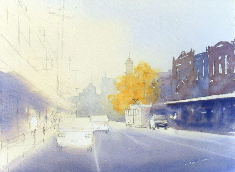 How To Paint Street Scenes With Watercolor Buildings