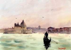 Venice Santa Maria Della Salute Plein Air watercolor painting