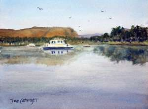 Plein air painting of Lily Creek Lagoon, Kununurra, Western Australia