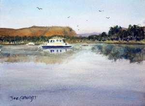 Plein air painting of Lily Creek Lagoon, Kununurra, Western Australia