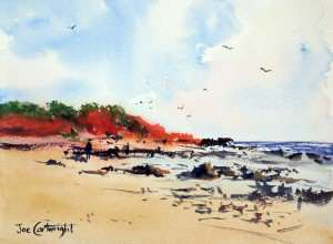 My first plein air watercolor panting was of Cable Beach, Broome, WA.