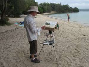My original watercolor plein air easel