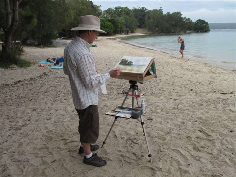 plein air painting easel for watercolor