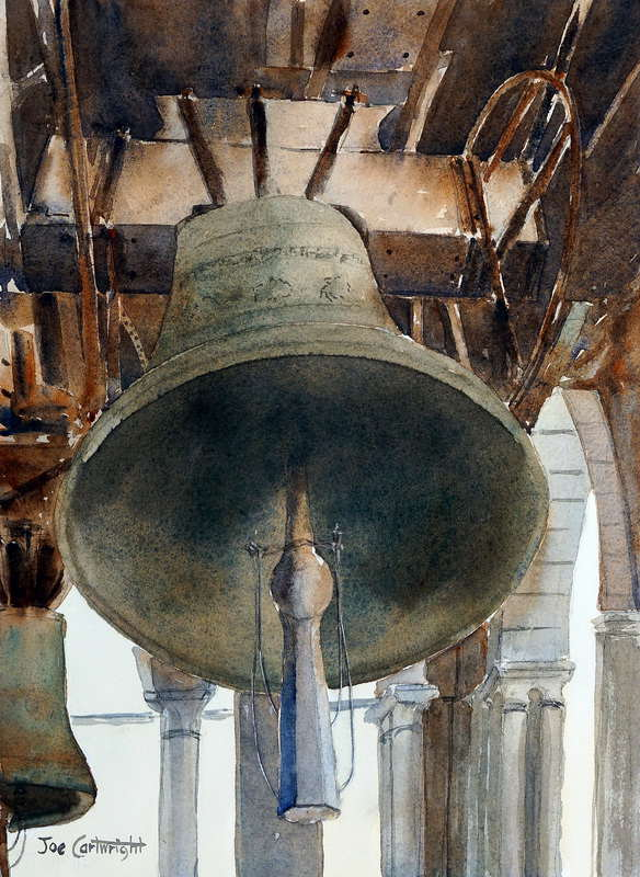Watercolor painting of Bells of St Mark's Campanile