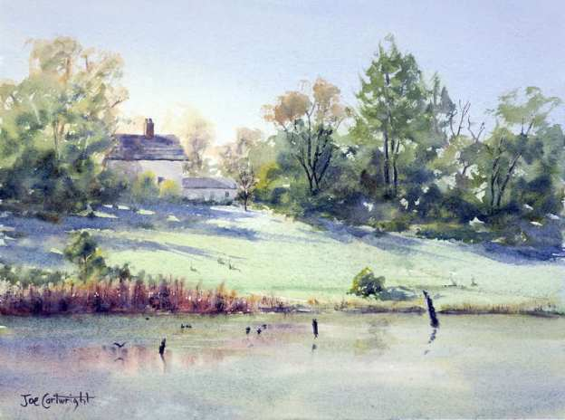 Watercolor painting demonstration – Pughs Lagoon