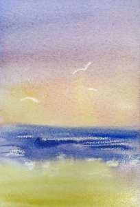 image of stronger watercolor mix added under the waves to add more form