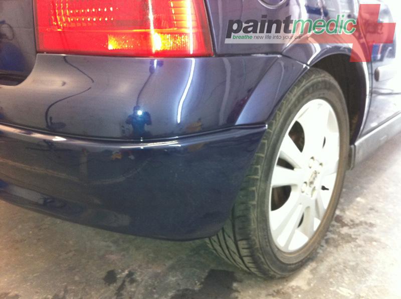 Bumper scuff and car scratch before Paintmedic repair