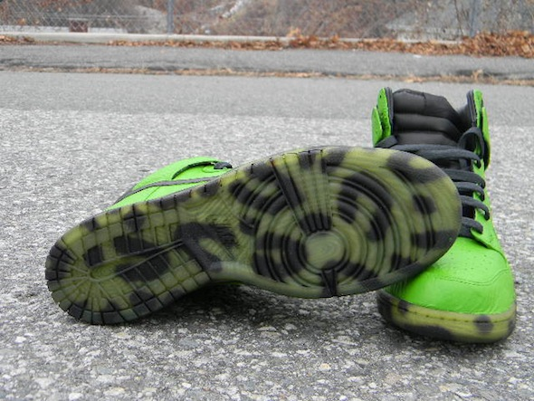 impeccable customs nike dunk toxic leopard 3 Toxic Leopard Nike Dunk Custom with Dyed Clear Soles by Impeccable