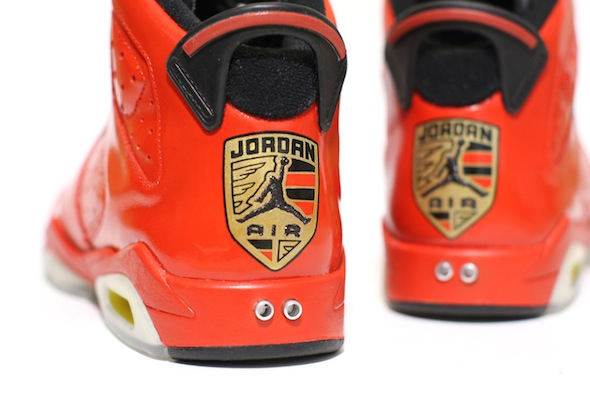 porsche 911 air jordan vi c2 customs 4 Red Porsche 911 Custom Air Jordan VI Shoes by C2 Customs