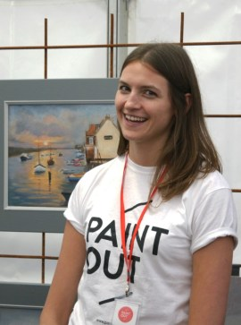 Olivia Brotheridge, Visual Arts Coordinator at Paint Out Wells 2016 photo by Katy Jon Went