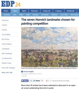 The seven Norwich landmarks chosen for painting competition EDP 25 Sep 2014