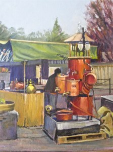 Calvados Stall, Coutances by Mary Kallagher