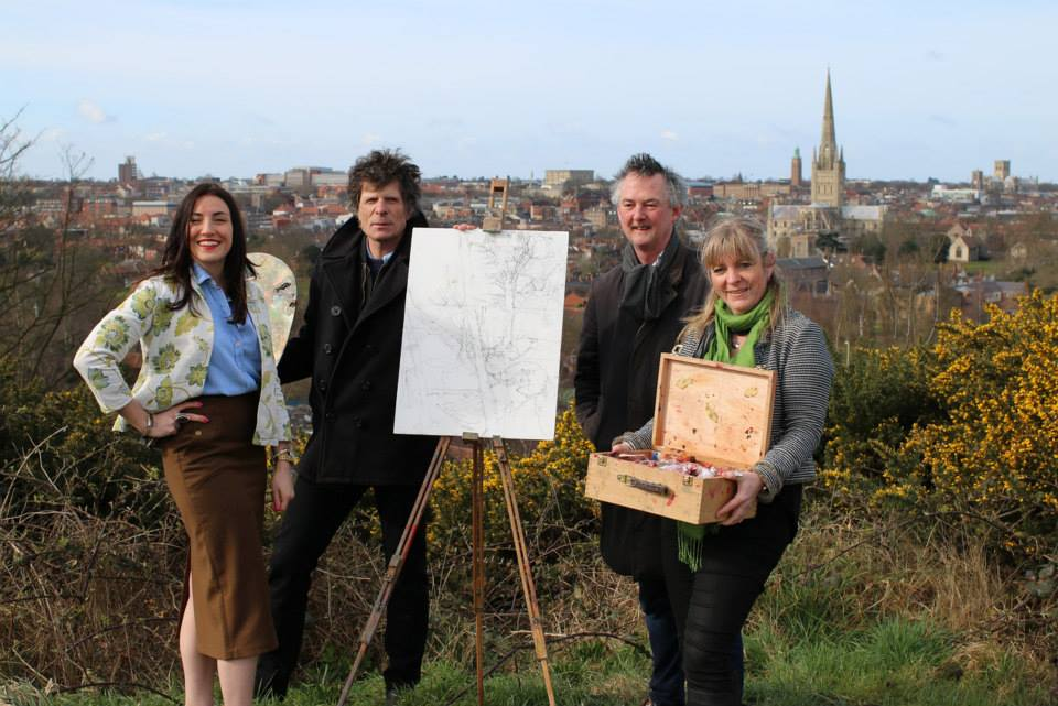 Paint Out Norwich, October 2015, press media launch, Mousehold Heath, Norfolk